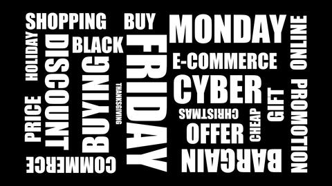 Holiday Shopping Word Cloud - Animation 20 Words Live Action