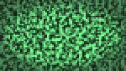 Mosaic green digital squares background Footage