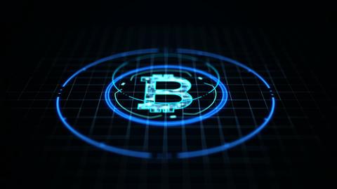 Technology bitcoin concept Animation