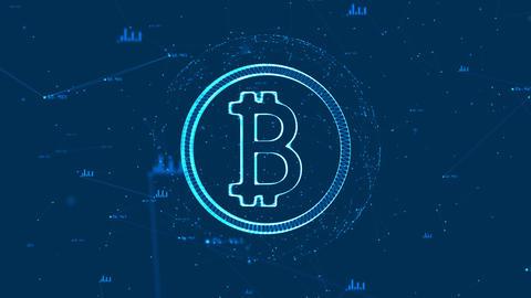 Technology bitcoin concept4 Animation