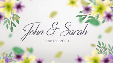 Wedding Slideshow Floral After Effects Template