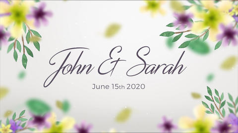 Valentine Slideshow Floral After Effects Template