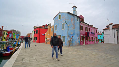 The colored houses in Burano 영상물