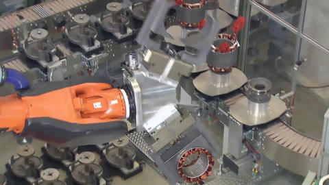 Engine Production Factory. Electric Engine Production Process2 Live Action