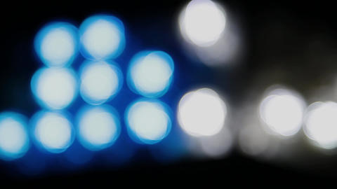 Color bokeh with light movement of the camera, colors change Footage