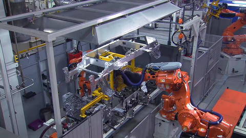 Automobile factory assembly process 5 1 cut 004 Footage