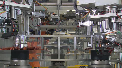 Engine Production Factory. Electric Engine Production Process6 Live Action