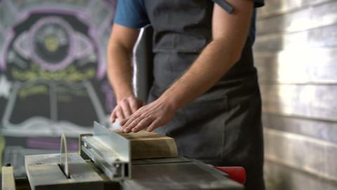 modern carpenter at work ビデオ