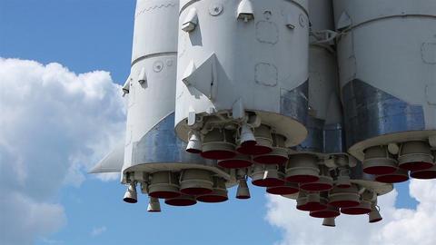 Rocket nozzles clouds GIF
