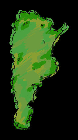 Paint Argentina Map Animation