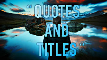Quotes AE Titles After Effects Project