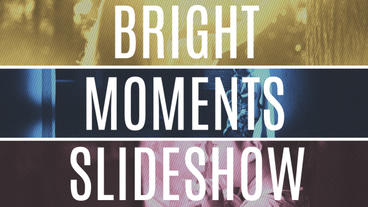 Bright Moments Slideshow stock footage