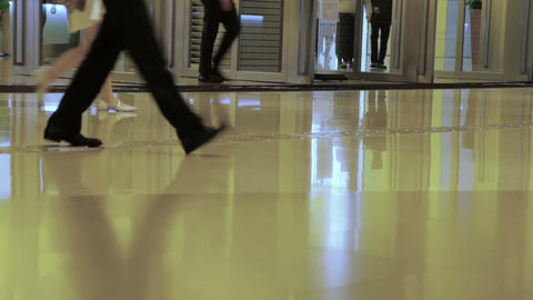 Crowd at the Mall. Fast Motion Footage