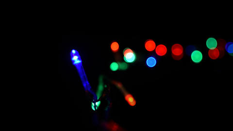 Christmas, New Year blinking LED lights, string, with alpha channel 06 ビデオ