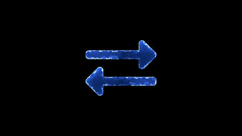 Symbol exchange. Blue Electric Glow Storm. looped video. Alpha channel black Animation
