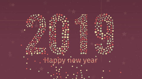 New Year 2019 and Countdown 10sec Landscape GIF