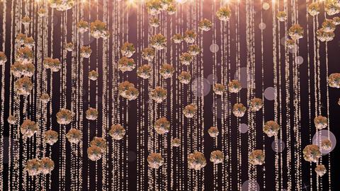 Rose Gold Falling Glitter 04 4K GIF