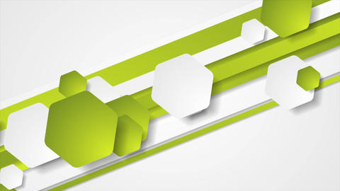 Abstract green tech geometric video animation Animation