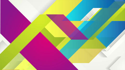 Colorful tech minimal geometric video animation Animation