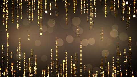 Golden Subtle Glitter Particles Animation