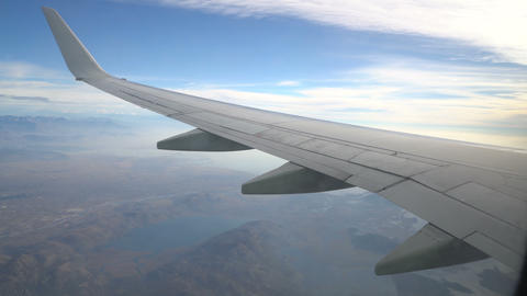 view from the aircraft to the Skadar lake ビデオ