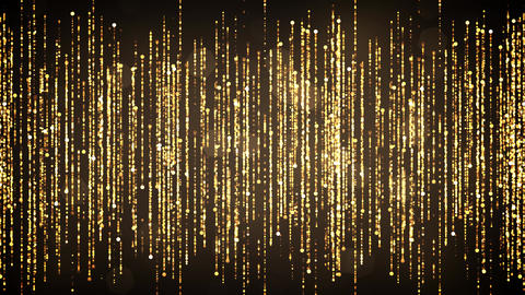 Golden Dynamic Glittering Particles Animation