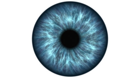 Blue human eye dilating and contracting. Very detailed extreme close-up of iris Live Action