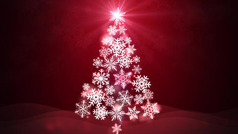 Glittering Magical Christmas Tree Animation