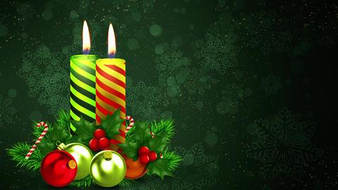 Holidays Christmas Candles Animation