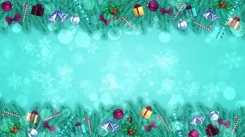 Blue Christmas Decorations Animation