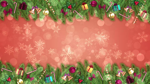 Red Christmas Decorations Animation
