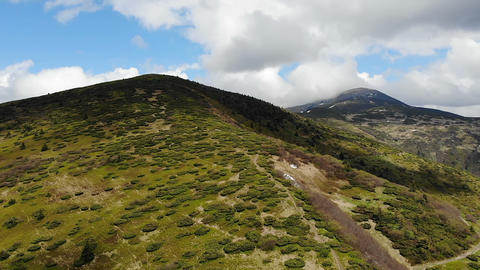 Top of the carpathian mountan in Ukraine - Drone GIF