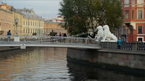 Lion bridge in St. Petersburg 영상물