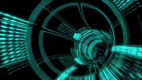 Looping Future Tunnel Animation