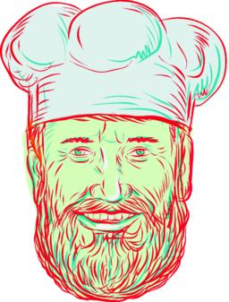 Hipster Baker Cook Chef Head ベクター