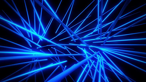 Blue Neon Tubes Vortex VJ Loop Abstract Motion Background GIF