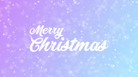 Greeting Card Text With Beautiful Snow And Stars Particles Background