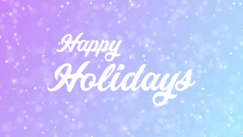 Greeting Card Text With Beautiful Snow And Stars Particles Background 1