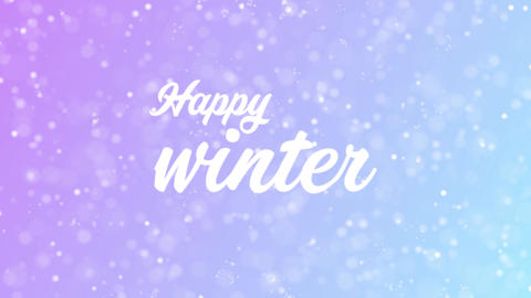 Greeting card text with beautiful snow and stars particles Animation