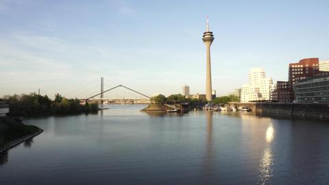 Rheinturm Rhine Tower, Dusseldorf, Germany GIF