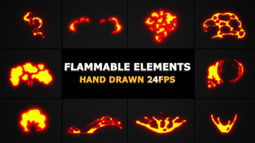 Flammable FX Elements After Effects Template