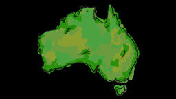 Paint Australia Map Animation