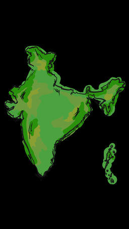 Paint India Map Animation