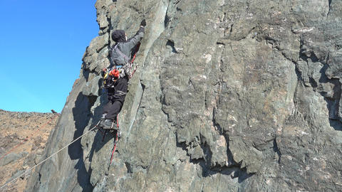 Climber On The Cliff Archivo