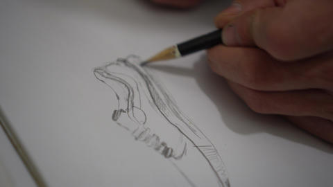 Sketching a sneakers Live Action