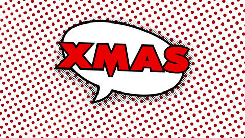 merry christmas video greeting card in comic style Animation