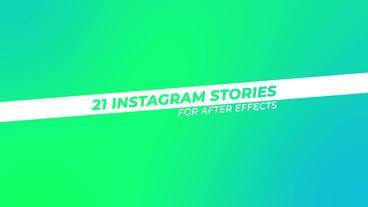 21 Instagram Stories Plantilla de After Effects