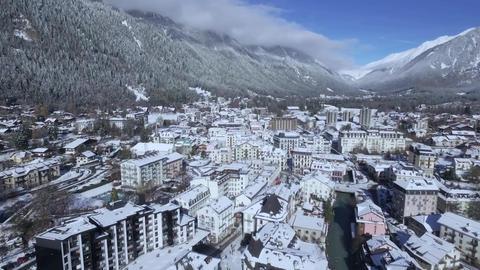 Winter in an alpine village. snow on the village street Live Action