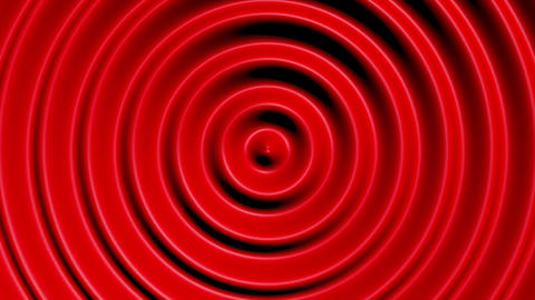 Concentric circles with hypnotic effect, colored water resonance background Animation