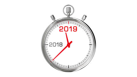 New Year 2019 Stopwatch (with Matte) Animation
